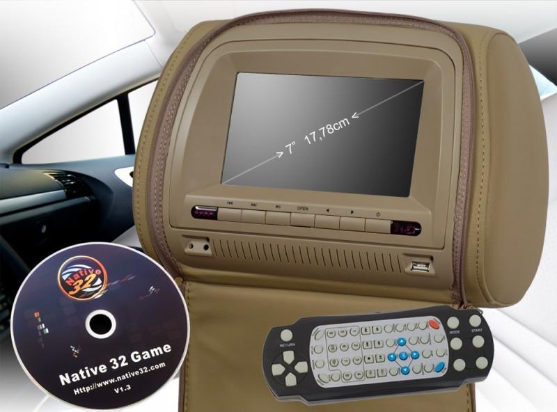 7 17 8cm lcd digital monitor auto kfz kopfst tze. Black Bedroom Furniture Sets. Home Design Ideas
