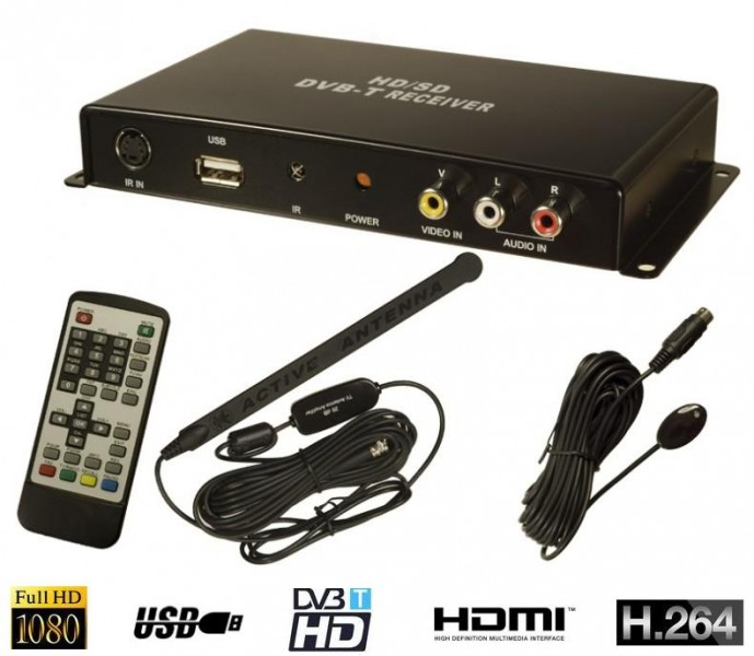 kfz auto dvb t dvbt tv tuner receiver empf nger hdmi usb. Black Bedroom Furniture Sets. Home Design Ideas