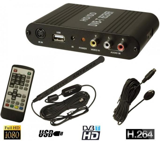 Kfz Auto Dvb T Tuner Mpeg 4 Hd Tv H264 Sd Usb Diversity Doppel