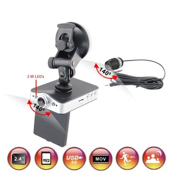 auto kfz car dual 2 kanal kamera dvr recorder mit r ckfahrkamera bewegungssensor ebay. Black Bedroom Furniture Sets. Home Design Ideas