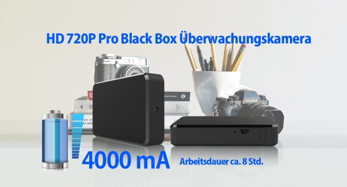 Full HD 1080p Recorder Blackbox mit versteckter Mini Kamera 90° 5MP 64GB – Bild 5