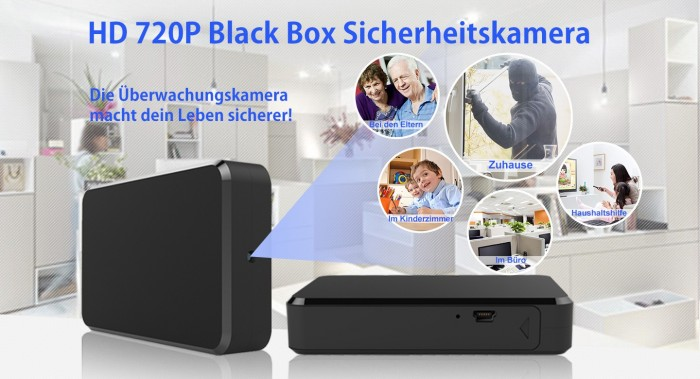 Full HD 1080p Recorder Blackbox mit versteckter Mini Kamera 90° 5MP 64GB – Bild 2