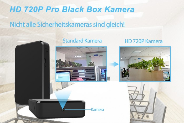 Full HD 1080p Recorder Blackbox mit versteckter Mini Kamera 90° 5MP 64GB – Bild 3