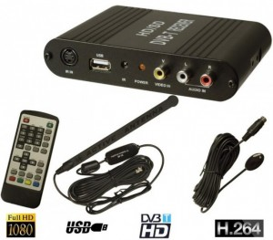 H.264 / HD Auto DVBT DVB-T TV HDTV SDTV Digital Tuner Receiver USB Recorder MPEG 4 1080P 230Km/h