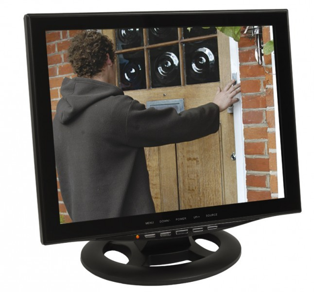"15"" (38cm) CCTV Monitor Video Überwachungsmonitor mit LED Backlight HDMI VGA 2x BNC Video Eingang – Bild 1"